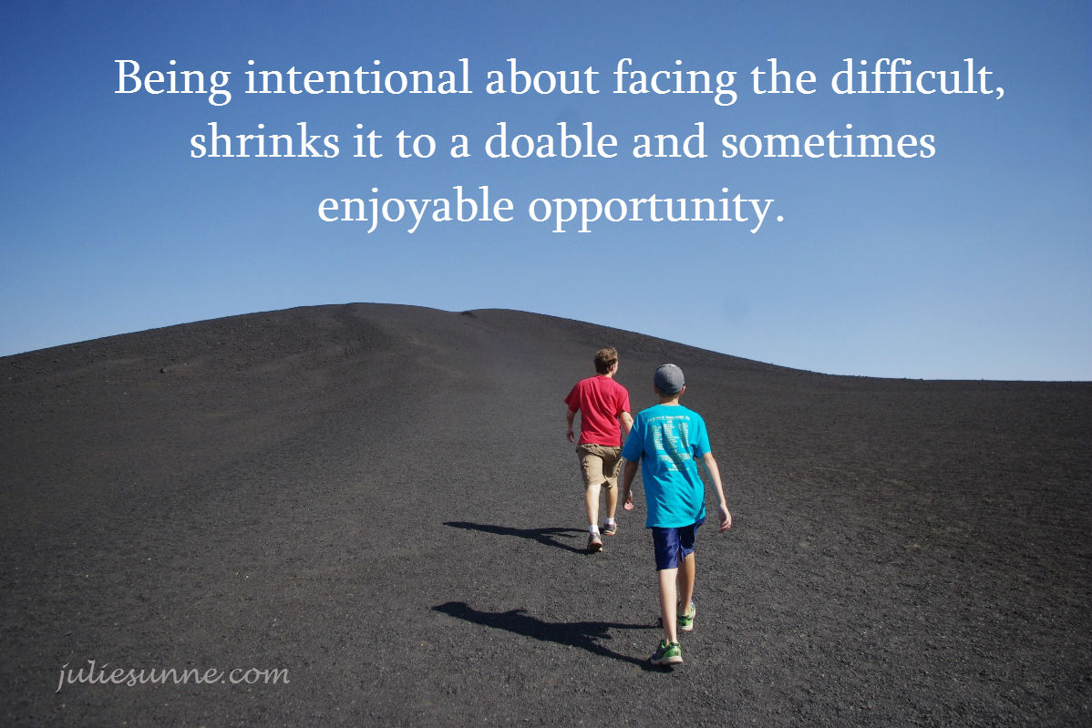 facing the difficult-