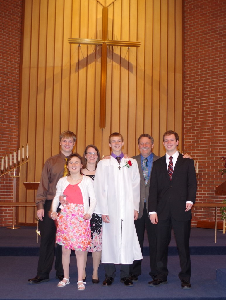 Family picture at Joey's Confirmation