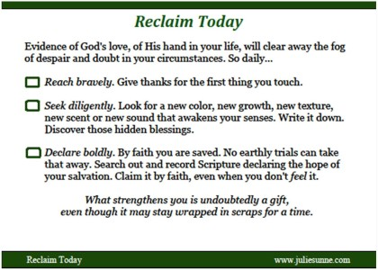 Reclaim Today Action Card