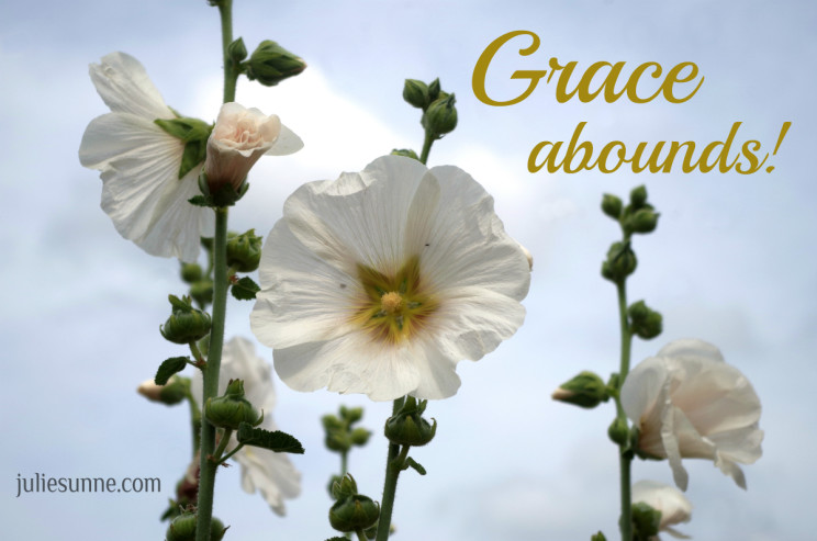 grace abounds in times of trouble too