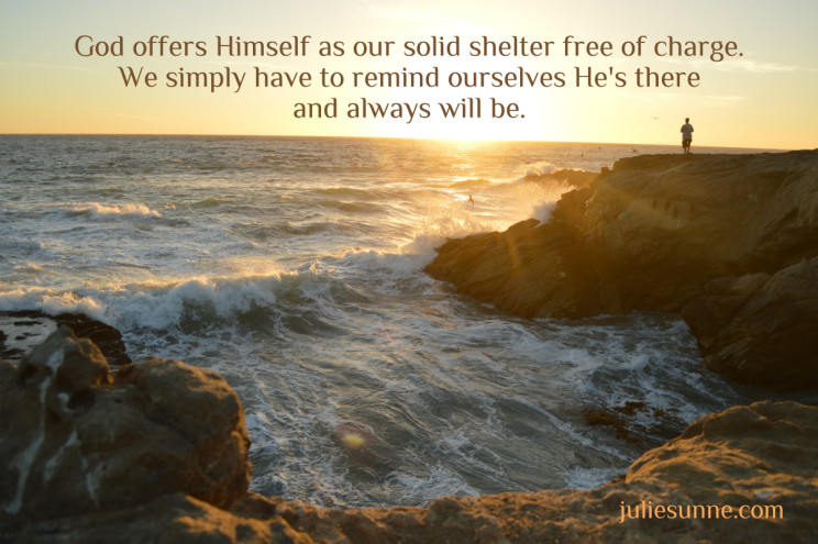 God is our solid shelter