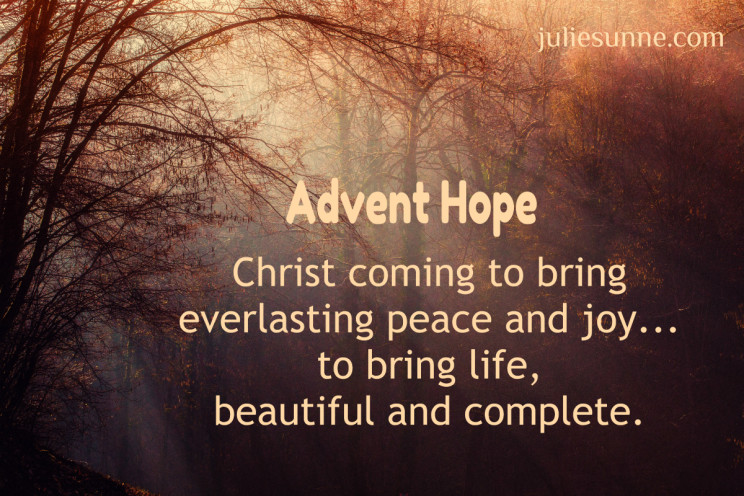 Advent hope: Jesus is coming!