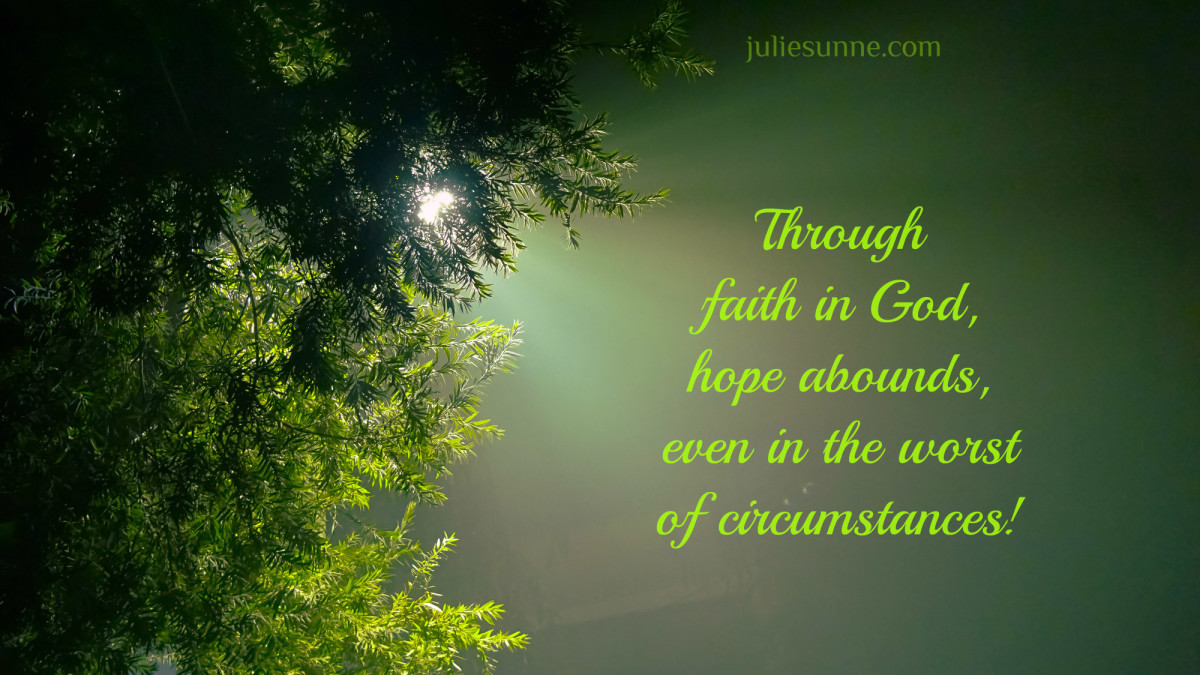 through faith, hope abounds