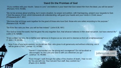 Stand on God's promises for better or worse