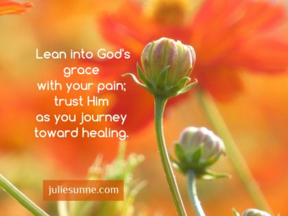 lean into God's grace
